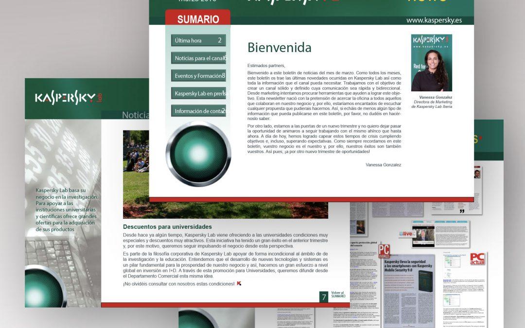 Maquetación   Boletín electrónico   Kaspersky