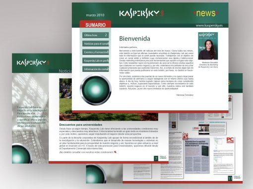 Maquetación | Boletín electrónico | Kaspersky